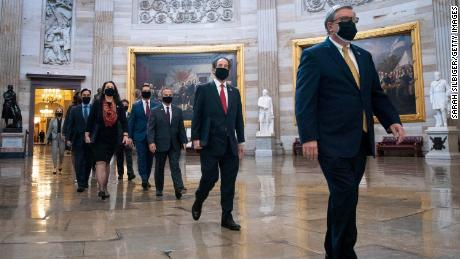 With new footage, House managers show violent scenes from the Capitol riots in their case against Trump