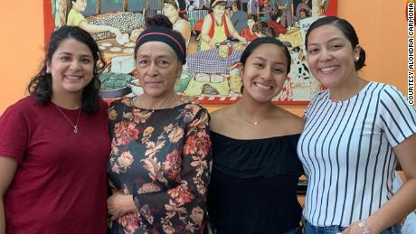 Martha Zepeda (pictured here, second to the right), alongside her daughters (left to right): Claudia Carmona, Alondra Carmona and Briceyda Carmona.