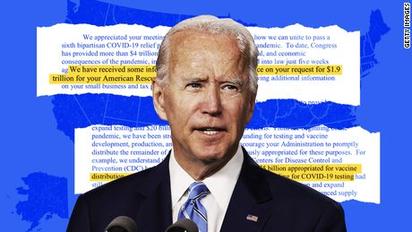 Building the big one: Behind the scenes of Biden's $1.9 trillion bet