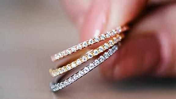 Pavoi 14-Karat Gold-Plated Simulated Diamond Stackable Ring