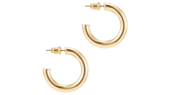 Pavoi 14-Karat Gold Colored Chunky Open Hoops