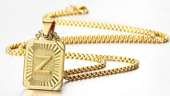 Trendsmax Initial Letter Pendant Necklace