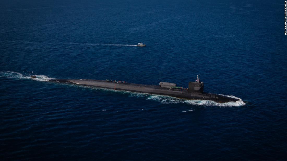 US Navy Ohio class nuclear powered subamrine