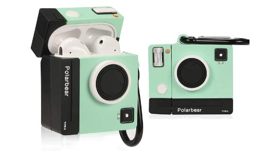 Lupct Green Camera Airods Case