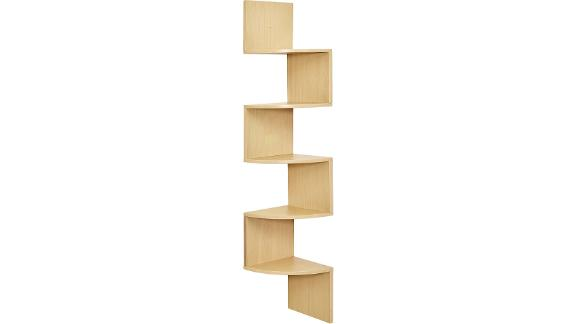 Greenco 5-Tier Wall-Mount Corner Shelves