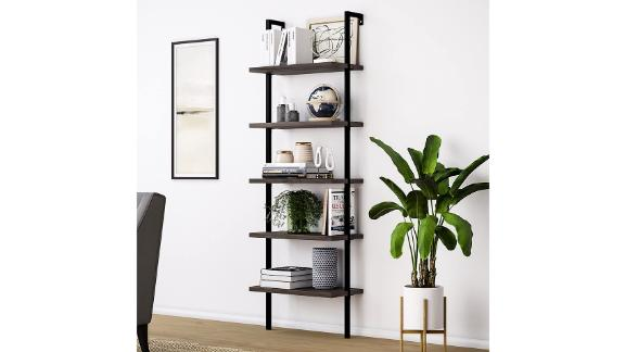 Nathan James Theo 5-Shelf Wood Modern Bookcase