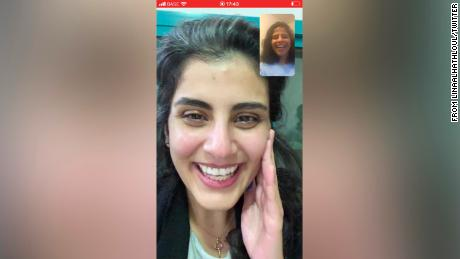 Loujain al-Hathloul and her sister Lina al-Hathloul, who has been a driving force behind an international campaign for Loujain's freedom, speak on video chat for the first time since her release from prison.