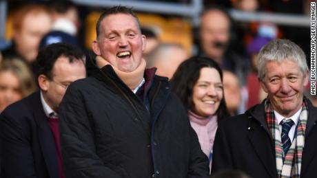 Doddie Weir laughs ahead of the Six Nations game between Scotland and France in 2020.
