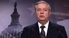 WASHINGTON, DC - JANUARY 07:  U.S. Sen. Lindsey Graham (R-SC) speaks during a news conference at the U.S. Capitol January 7, 2021 in Washington, DC. Sen. Graham condemned the pro-Trump mob's action of storming the Capitol the day before.  (Photo by Alex Wong/Getty Images)