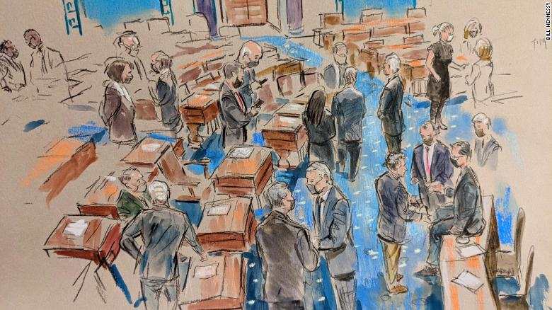 Inside the Senate: Sketches from a dramatic Day 5 of the Trump impeachment trial