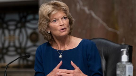 Sen. Lisa Murkowski (R-AK) asks a question at a hearing of the Senate Health, Education, Labor and Pensions Committee on September 23, 2020 in Washington, DC.