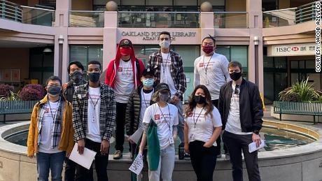 volunteers escort asian americans