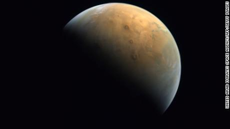 Hope Probe's first image of Mars was released Sunday.
