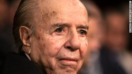 Former President Carlos Menem looks on during the opening session of the 138th period of the Argentine Congress on March 01, 2020, in Buenos Aires, Argentina.