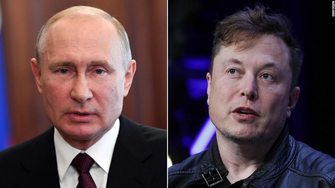 Elon Musk invites Vladimir Putin for a conversation on Clubhouse - CNN