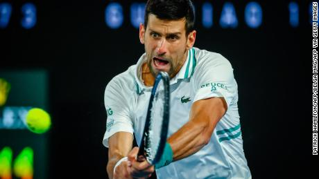 Novak Djokovic reached 300 career grand slams wins.