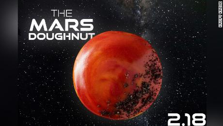 Krispy Kreme is offering a limited-edition Mars doughnut to celebrate NASA's rover landing