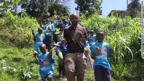 Olivier Nsengimana works with young Rwandans to inspire a love of nature.