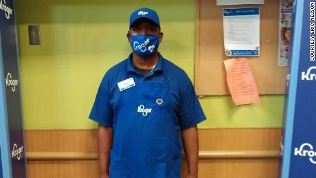 Eric Nelson, a Kroger worker in Cincinnati, Ohio, says he's worried about catching the coronavirus at work and is frustrated Ohio has not yet made grocery workers eligible to recieve the vaccine.