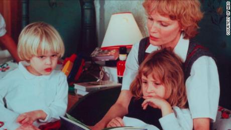 "Ronan Farrow, Dylan Farrow and mother Mia Farrow as seen in the new HBO docuseries ""Allen v. Farrow."""
