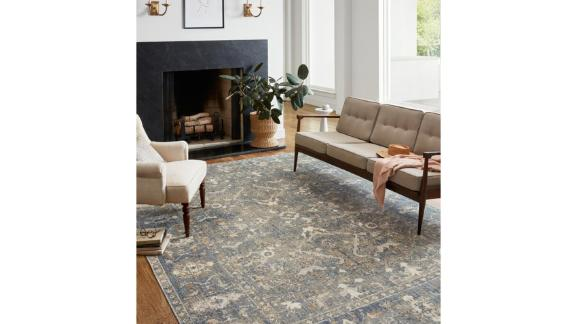 Chris Loves Julia x Loloi Rosemarie Oriental Sand/Lagoon Area Rug