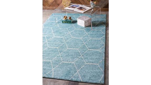 Unique Loom Trellis Frieze Area Rug