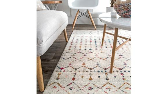 Mistana Lucienne Geometric Gray Area Rug
