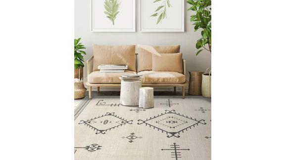 Damali Black & White Rug
