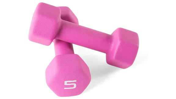 WF Athletic Supply Color Neoprene 5-pound Dumbbells