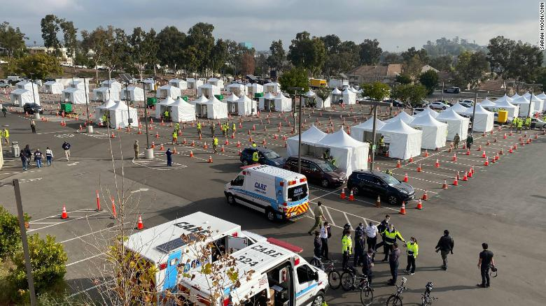 First FEMA Covid-19 mass vaccination sites open in California amid supply shortage