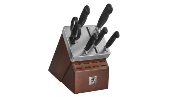 Four Star Self-Sharpening Knife Block and Knife Set