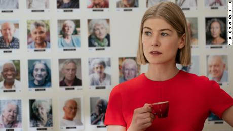 "Rosamund Pike stars as Marla Grayson in Netflix's ""I Care a Lot."""