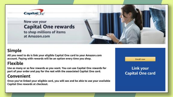 Add your Capital One card to Amazon