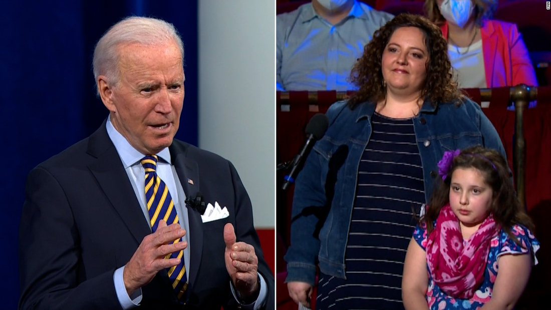 Joe Biden reassures 8-year-old about Covid-19 during CNN town hall: 'Don't be scared' - CNN Video