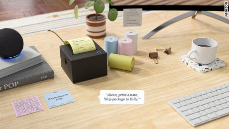 Amazon's concept gadget for an Alexa-enabled sticky-note printer