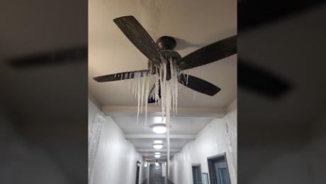 Thomas Black shared an image of icicles hanging from his ceiling fan