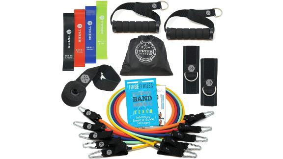 Tribe Resistance Bands Set Bundled With Loop Bands