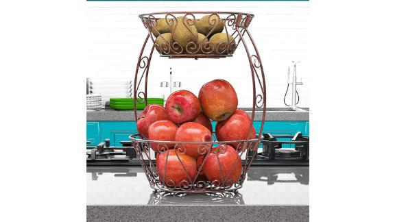 Simple Houseware 2-Tier Countertop Fruit Basket