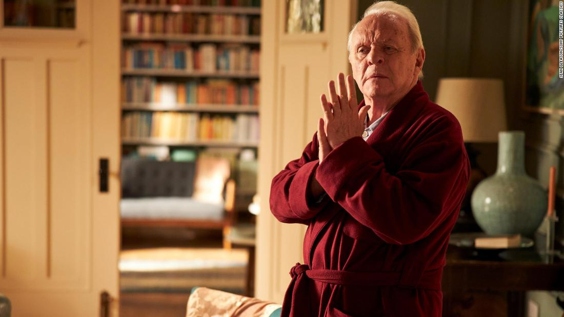 "<strong>Best actor:</strong> Anthony Hopkins, ""The Father"""
