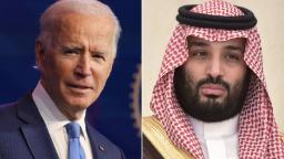 President Joe Biden and Saudi Crown Prince Mohammed bin Salman