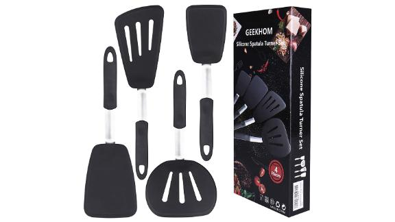 Geekhom Silicone Spatula Set for Nonstick Cookware