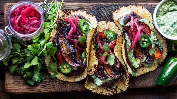 Chipotle Portobello Tacos (Vegan!)