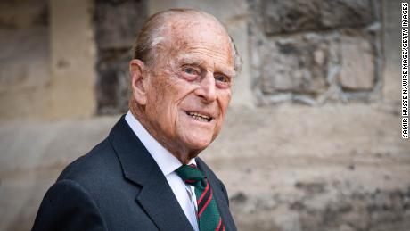 "Prince Philip, Duke of Edinburgh, pictured here in July 2020, has spent a second night in hospital after being admitted as a ""precautionary measure."""