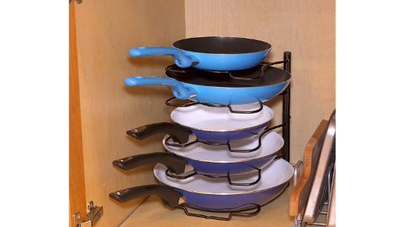 SimpleHouseware Pan and Pot Lid Organizer Rack Holder
