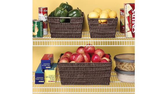Whitmor Rattique Java Storage Baskets, 3-Pack