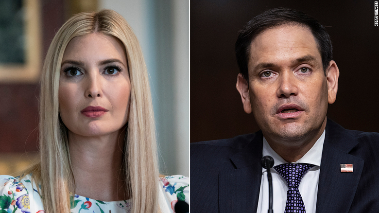 Ivanka Trump tells Marco Rubio she won't challenge him for Florida Senate seat