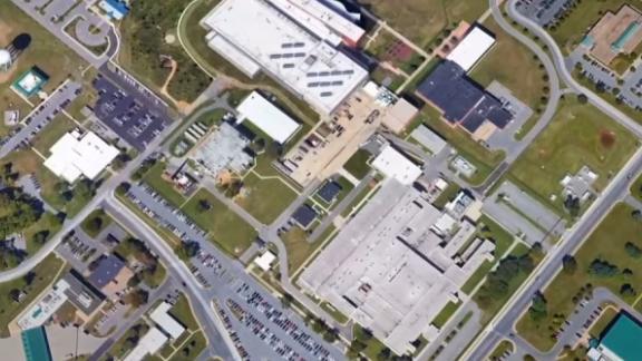 Screengrab of Fort Detrick, Maryland, from David Culver's pkg