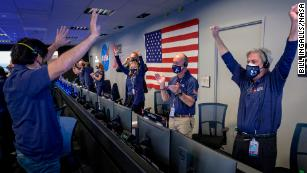 The joy of celebrating a rover landing on Mars