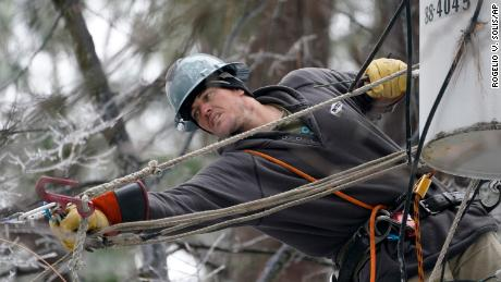 Repairs are on as thousands of customers are still without power in Mississippi after an ice storm.
