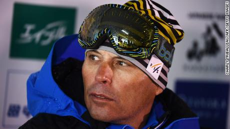 Ski race director Markus Waldner talks during a press conference in Japan. The picture was taken in February 2020.